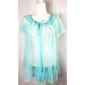 Tosch Vintage Baby Doll Sheer Robe M